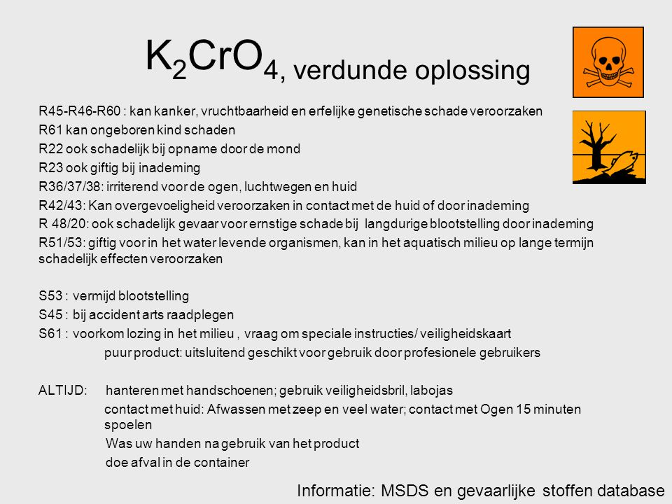 K2CrO4, verdunde oplossing