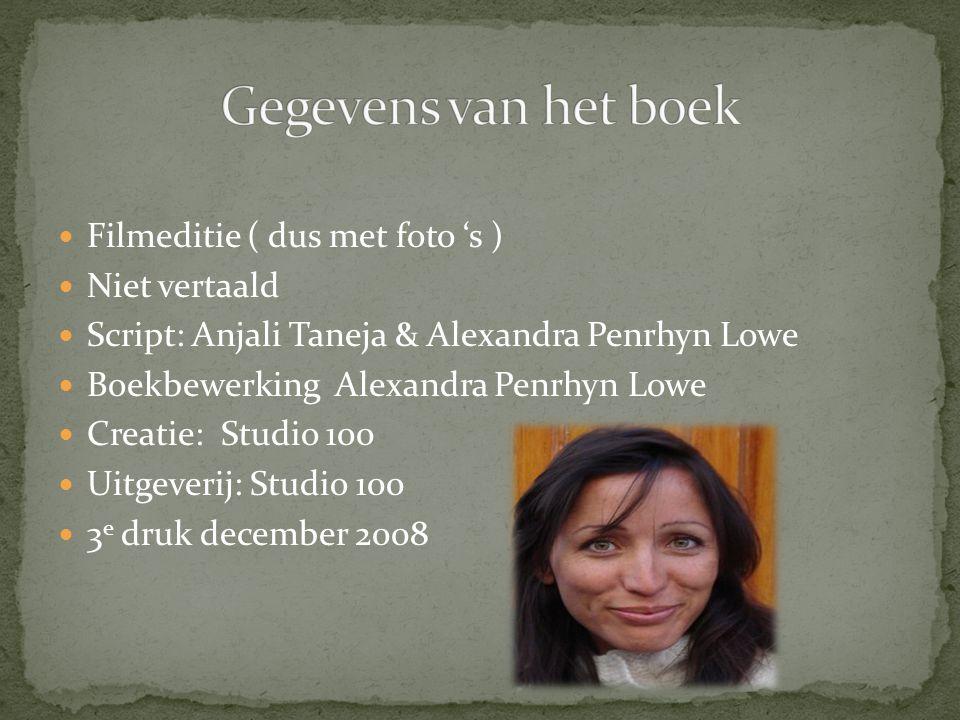 Gegevens van het boek Filmeditie ( dus met foto 's ) Niet vertaald