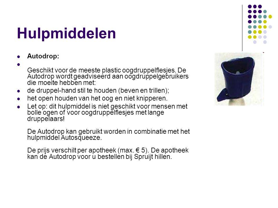 Hulpmiddelen Autodrop: