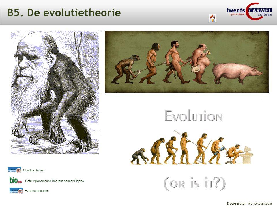 B5. De evolutietheorie Charles Darwin