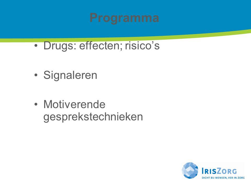 Programma Drugs: effecten; risico's Signaleren