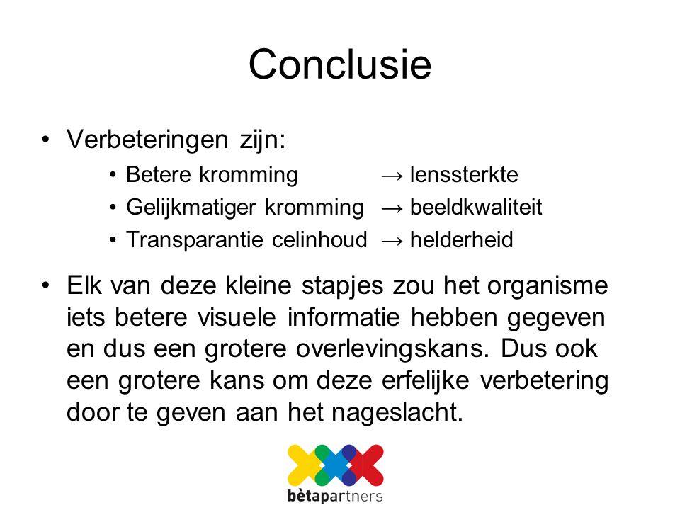 Conclusie Verbeteringen zijn: