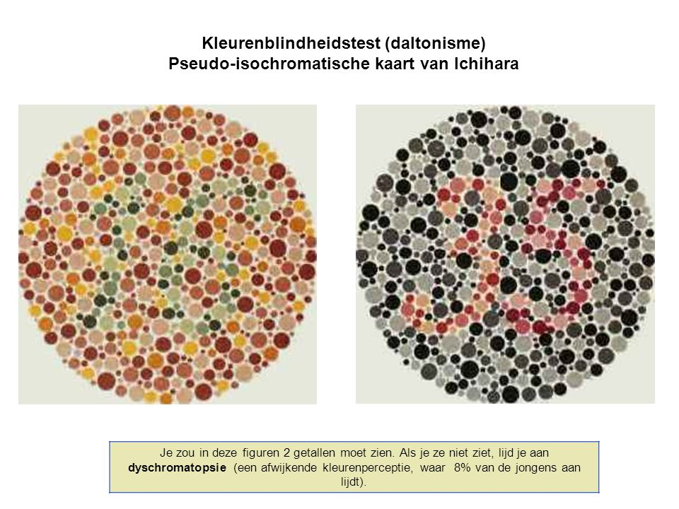 Kleurenblindheidstest (daltonisme)
