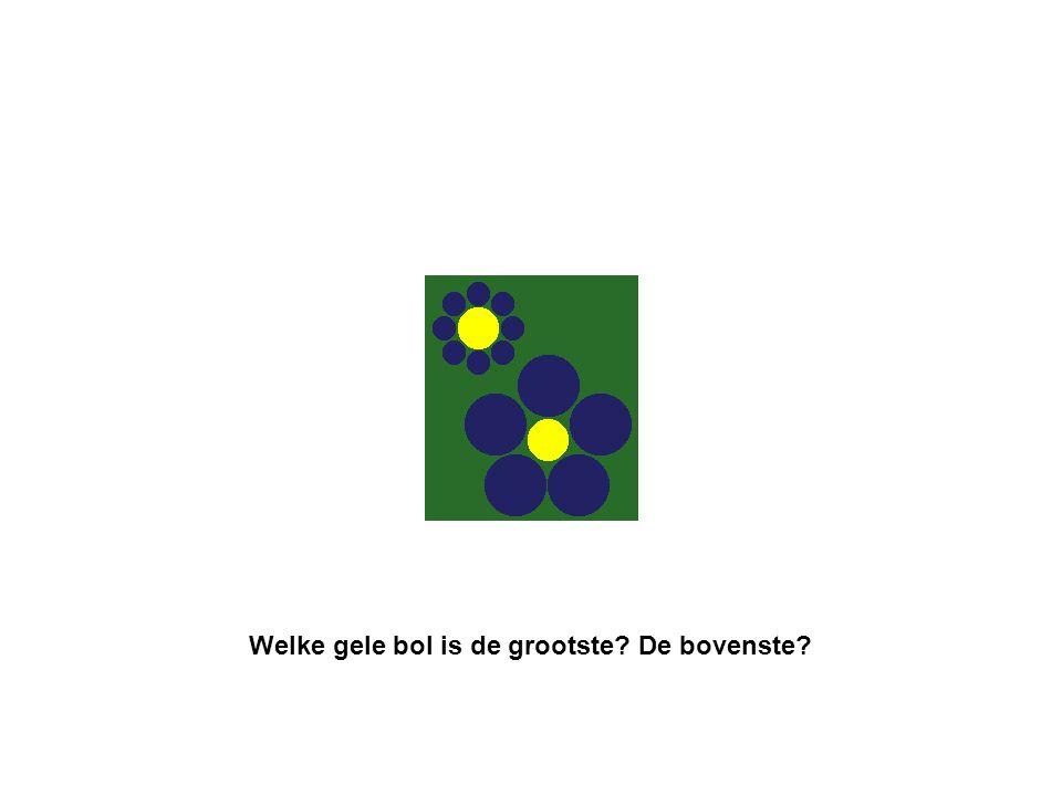 Welke gele bol is de grootste De bovenste