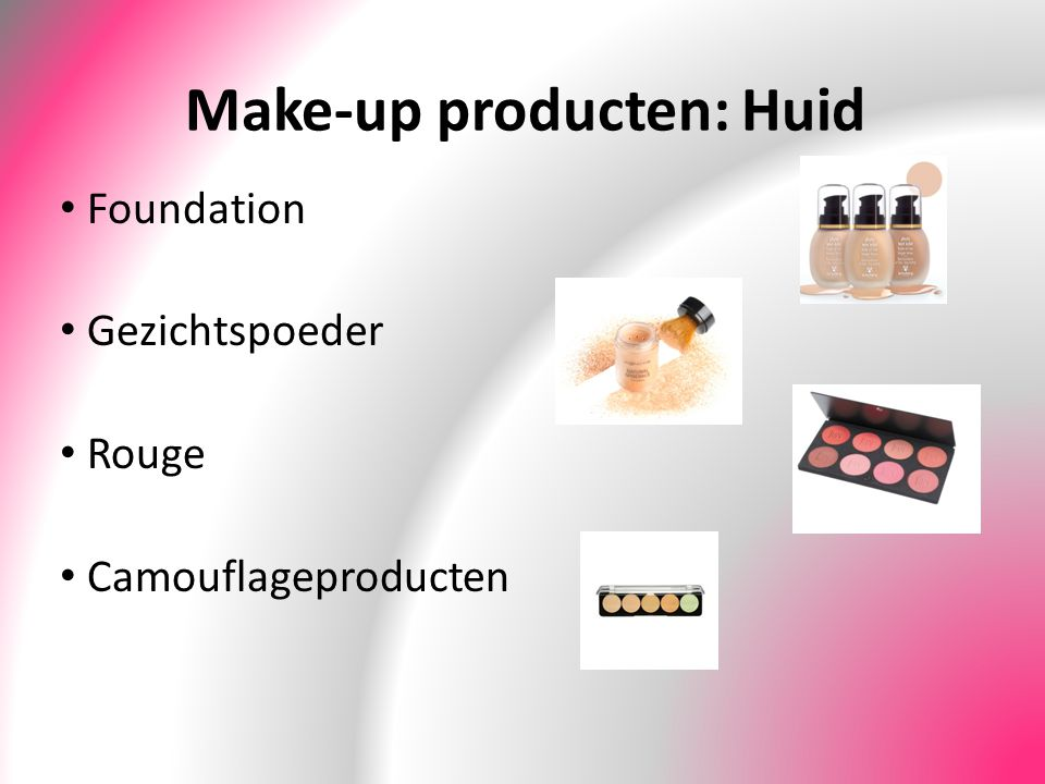 Make-up producten: Huid