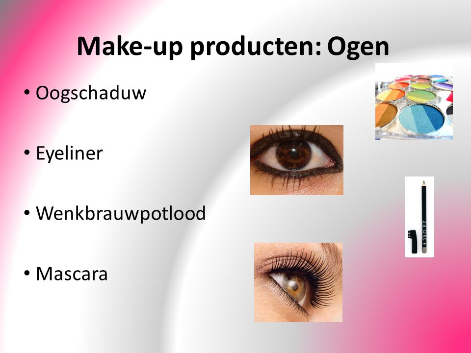 Make-up producten: Ogen