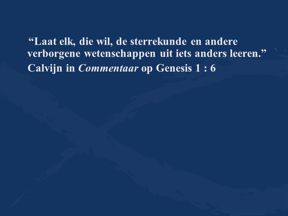 Calvijn in Commentaar op Genesis 1 : 6