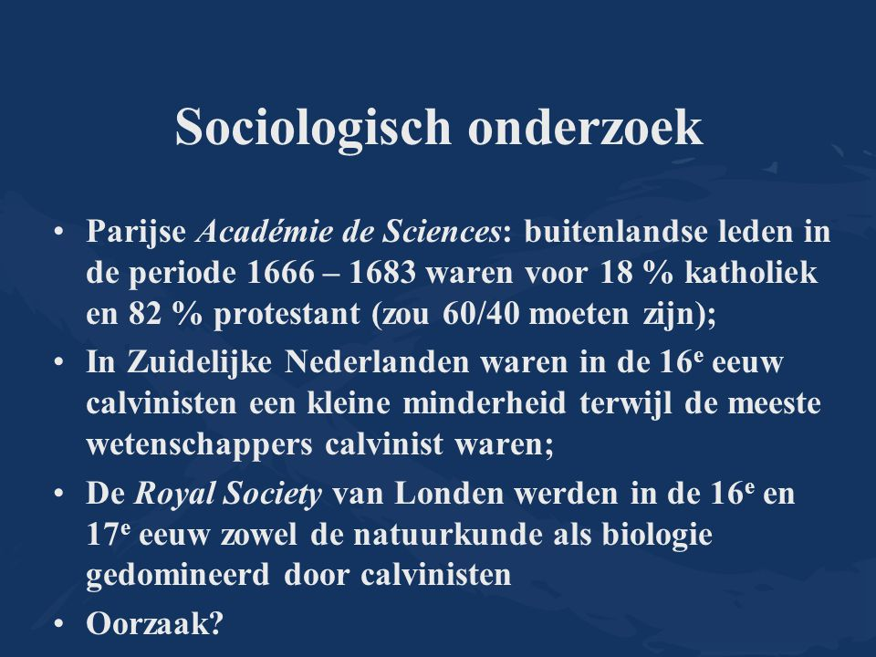 Sociologisch onderzoek