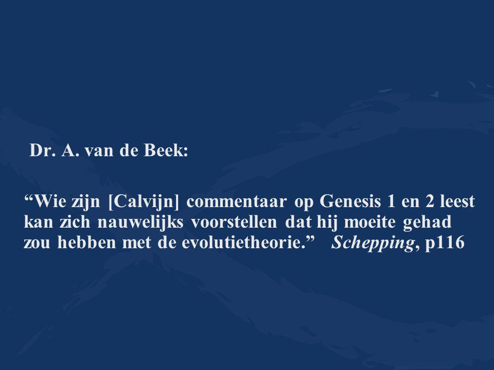 Dr. A. van de Beek: