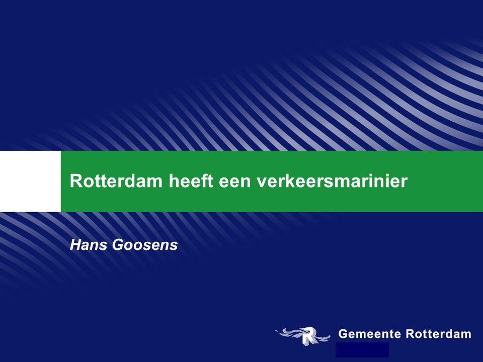 Rotterdam heeft een verkeersmarinier