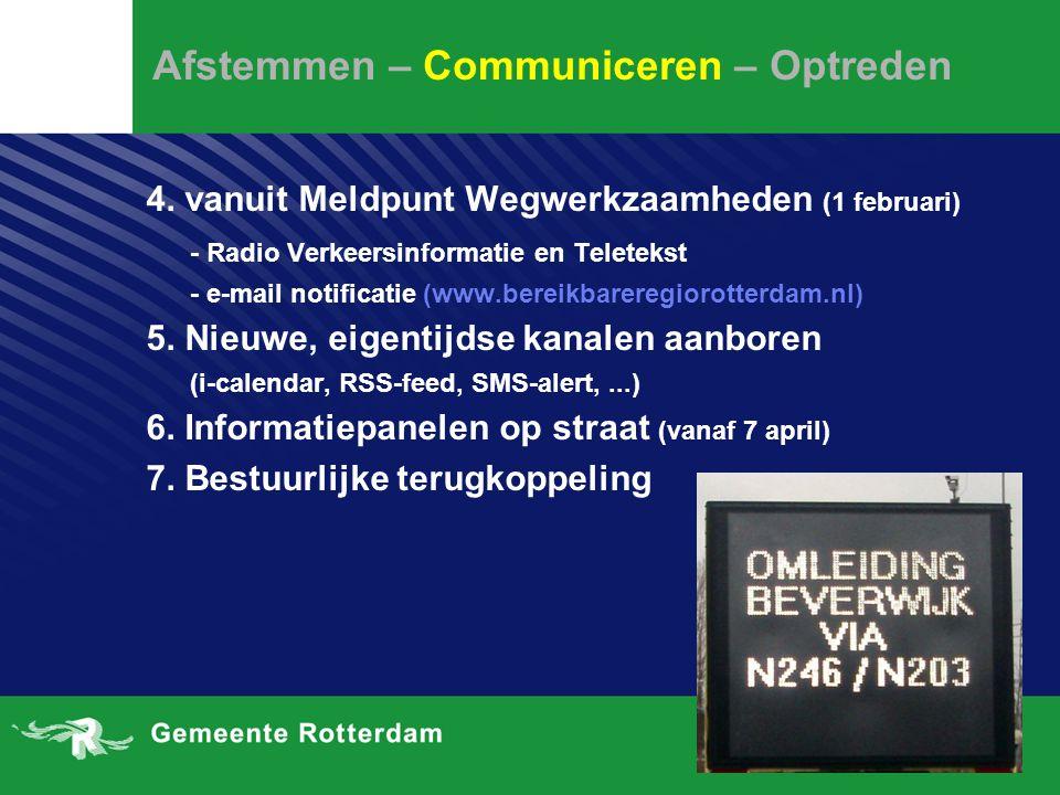 Afstemmen – Communiceren – Optreden