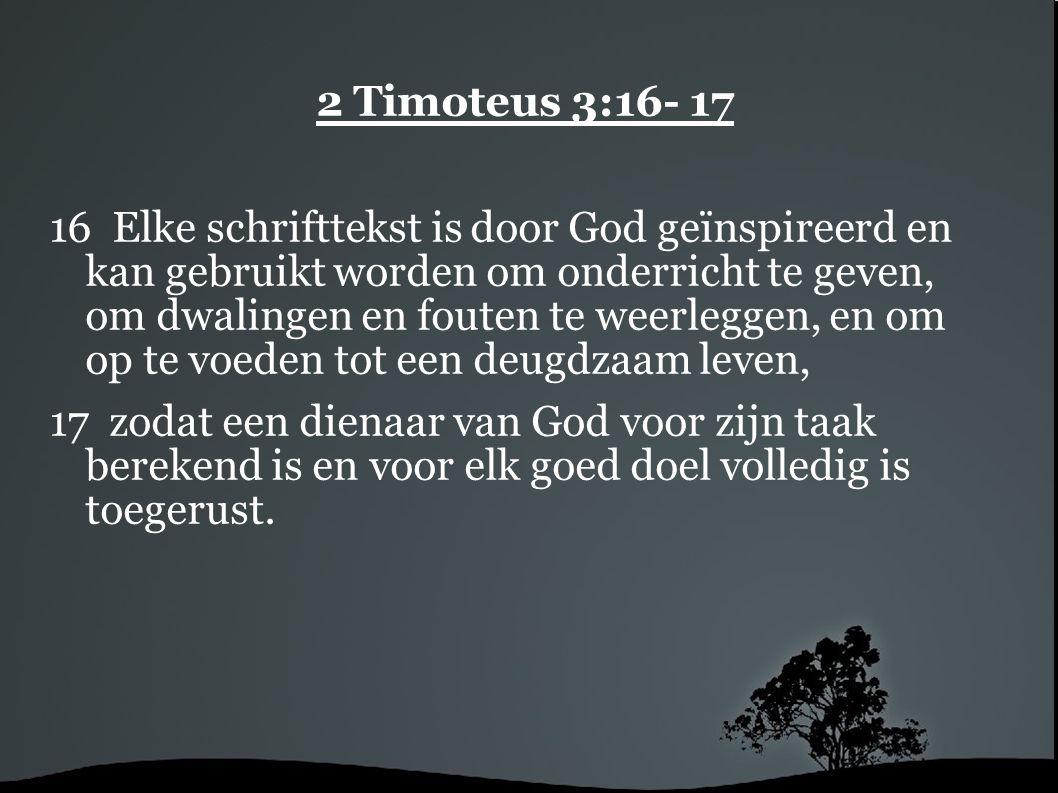 2 Timoteus 3:16- 17