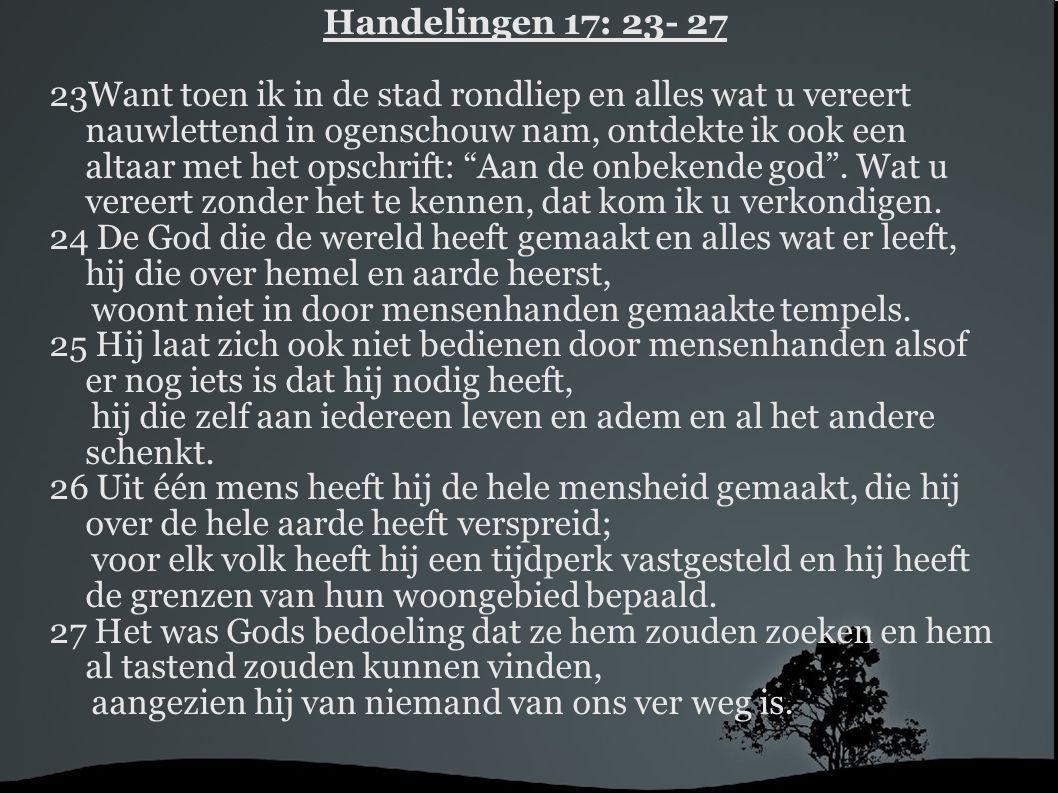 Handelingen 17: 23- 27