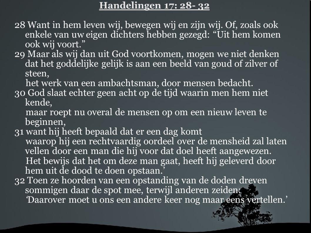 Handelingen 17: 28- 32
