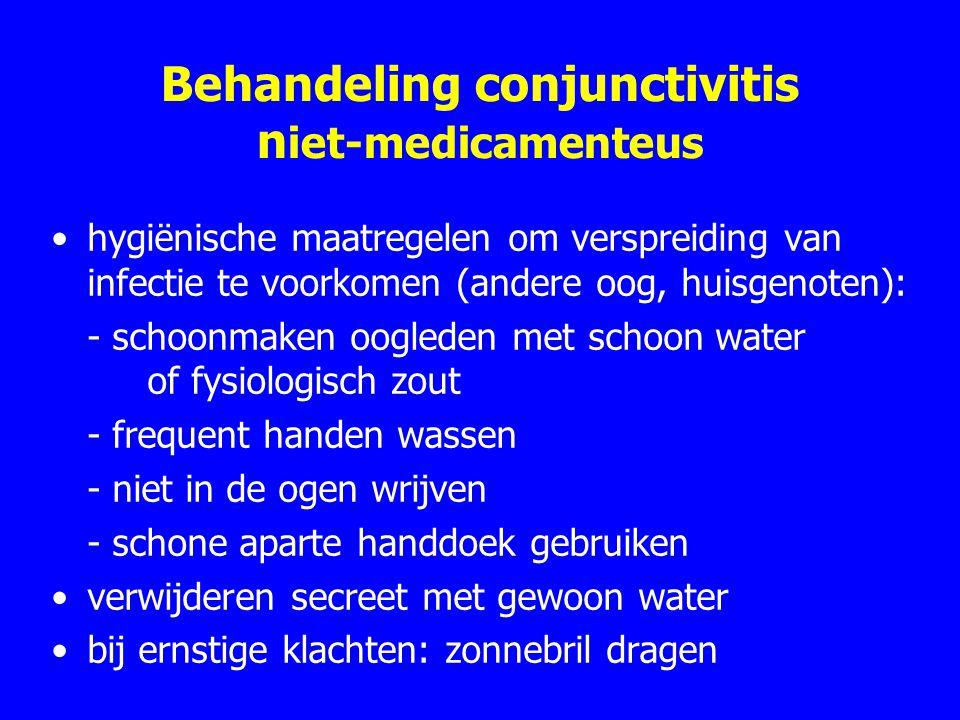 Behandeling conjunctivitis niet-medicamenteus