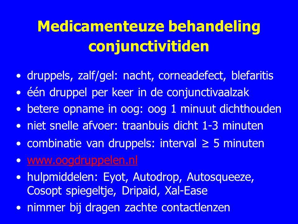 Medicamenteuze behandeling conjunctivitiden