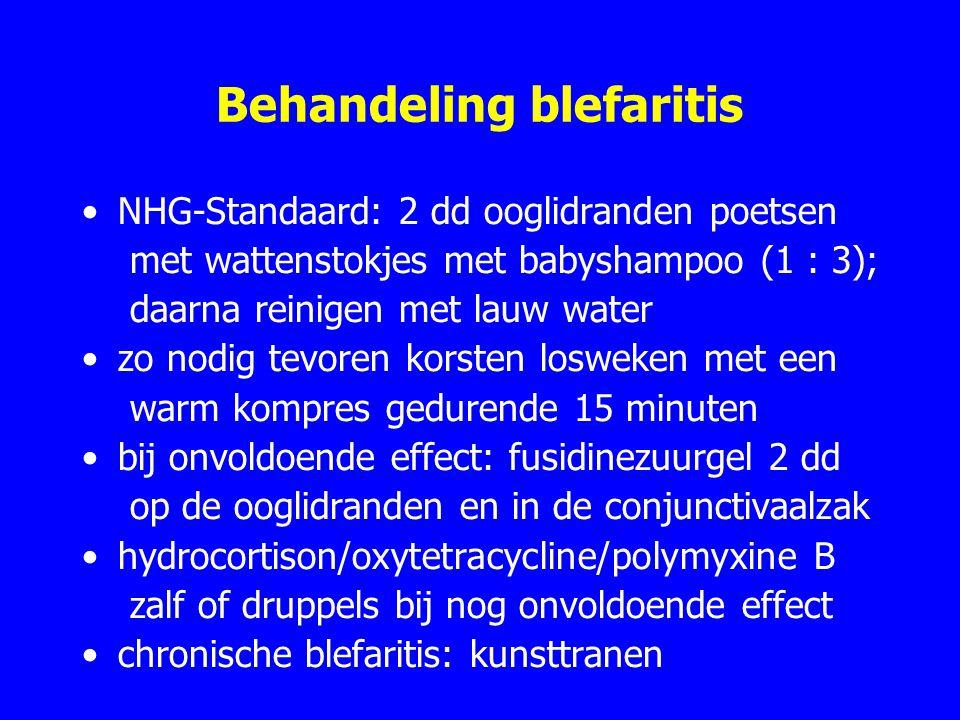 Behandeling blefaritis