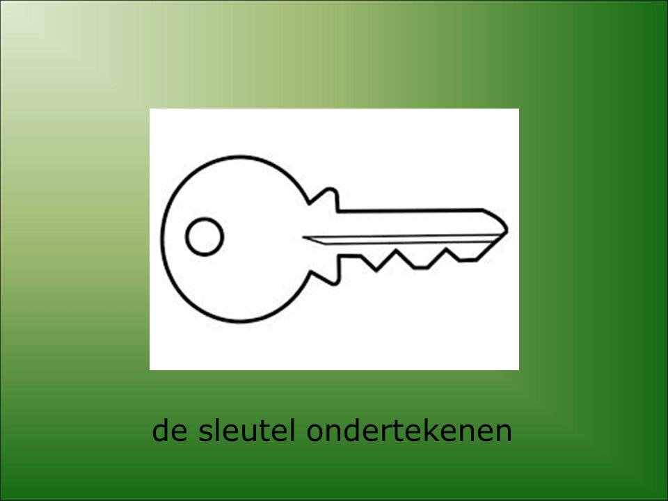 de sleutel ondertekenen