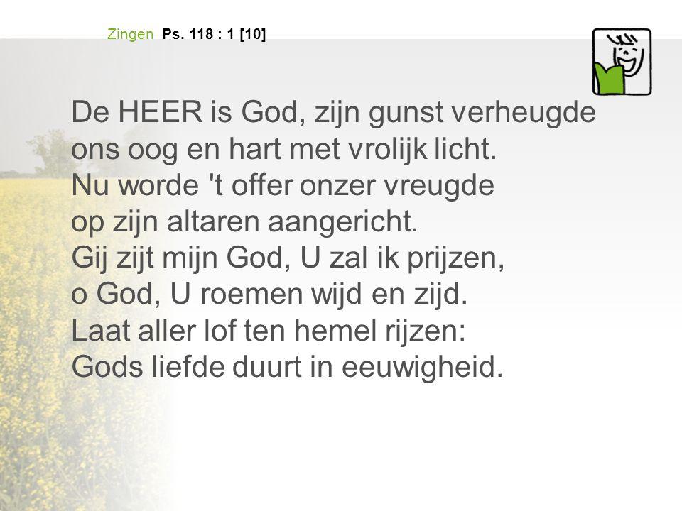 De HEER is God, zijn gunst verheugde