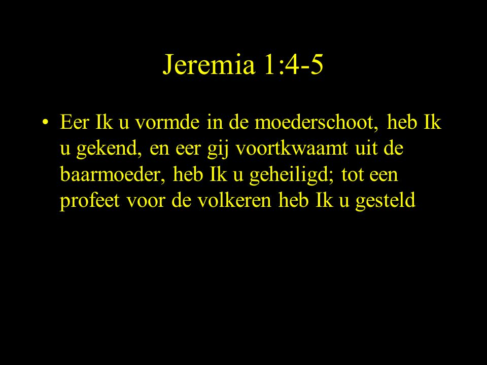 Jeremia 1:4-5