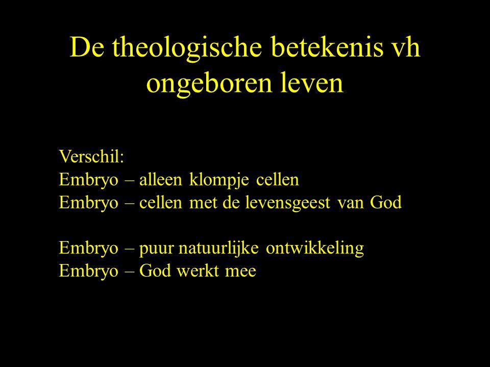 De theologische betekenis vh ongeboren leven