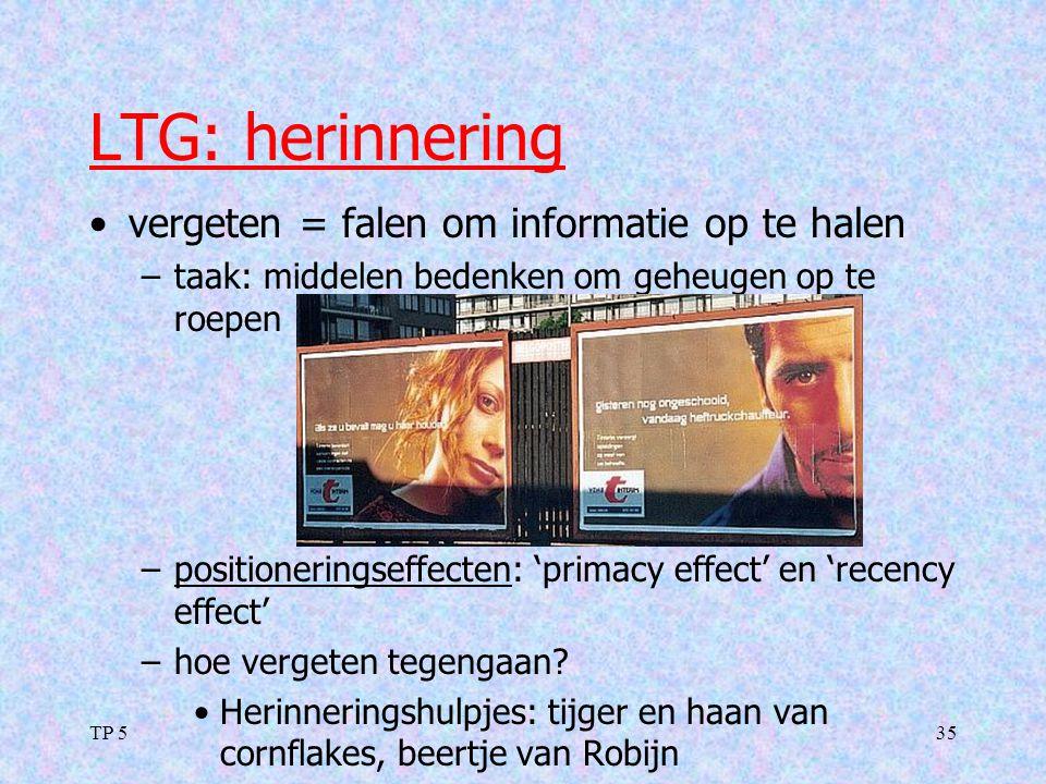 LTG: herinnering vergeten = falen om informatie op te halen