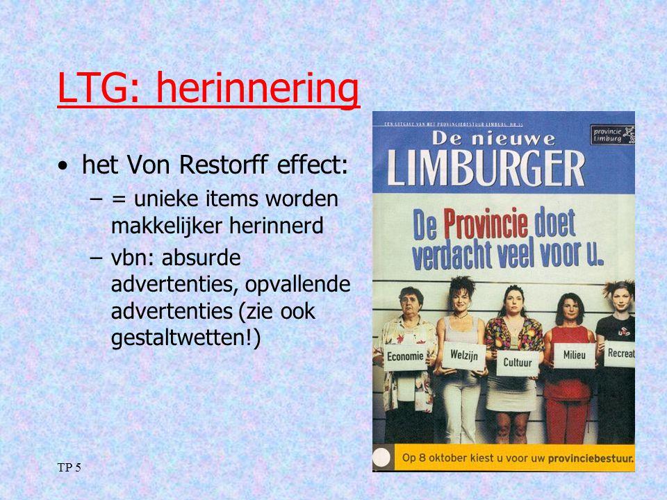 LTG: herinnering het Von Restorff effect: