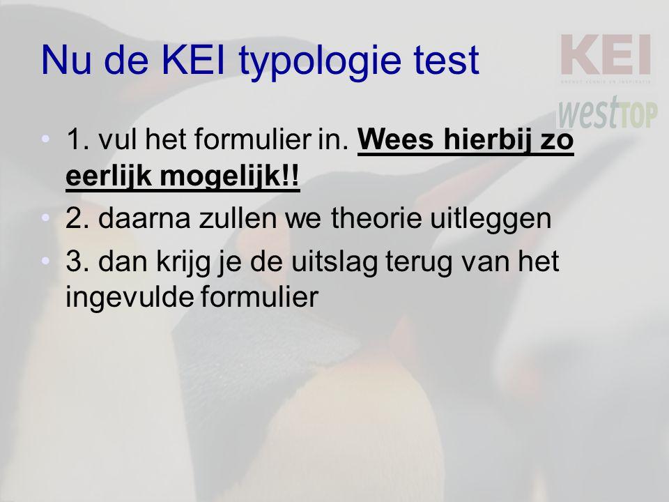 Nu de KEI typologie test