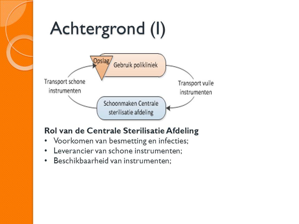 Achtergrond (I) Rol van de Centrale Sterilisatie Afdeling