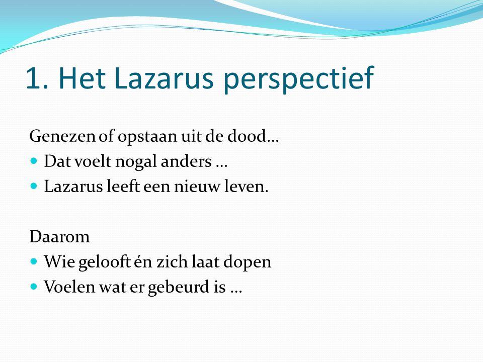 1. Het Lazarus perspectief