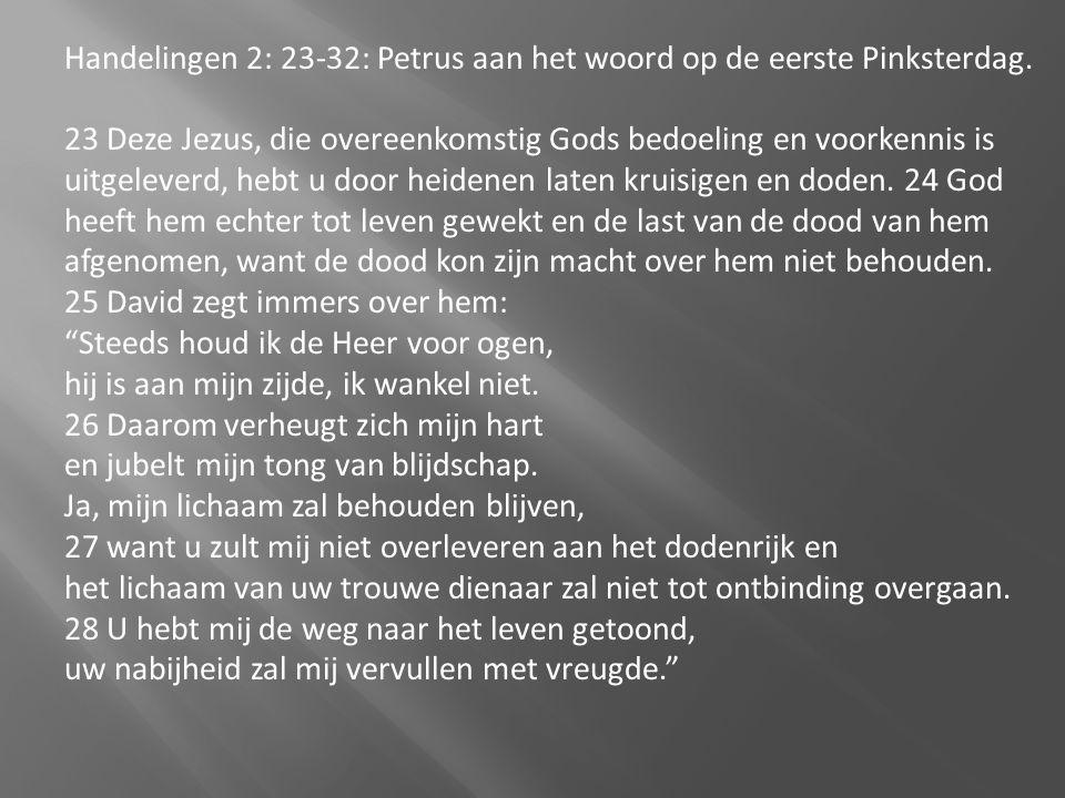 Handelingen 2: 23-32: Petrus aan het woord op de eerste Pinksterdag