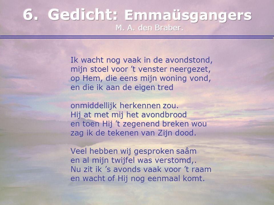 Gedicht: Emmaüsgangers M. A. den Braber.