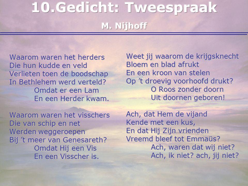 10. Gedicht: Tweespraak M. Nijhoff