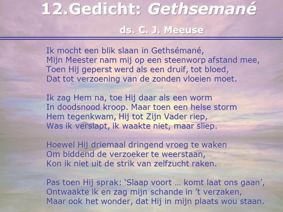 Gedicht: Gethsemané ds. C. J. Meeuse
