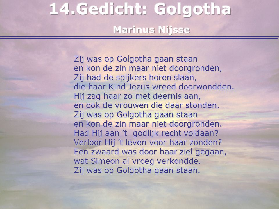 Gedicht: Golgotha Marinus Nijsse