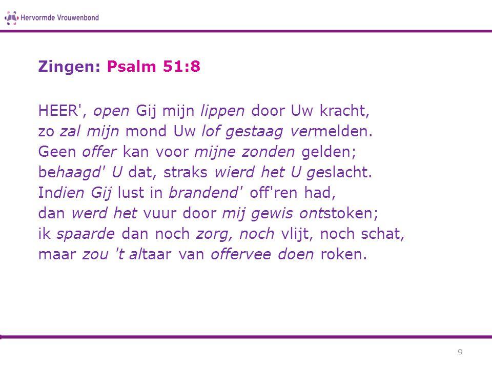 Zingen: Psalm 51:8