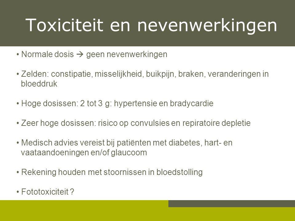 Toxiciteit en nevenwerkingen