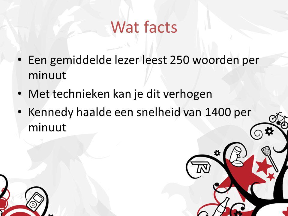 Wat facts Een gemiddelde lezer leest 250 woorden per minuut