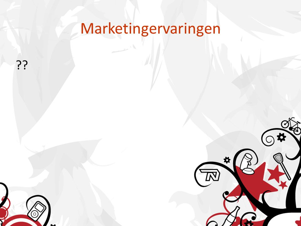 Marketingervaringen