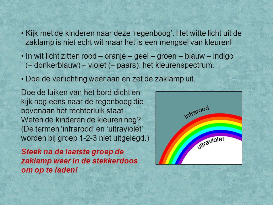 Kijk met de kinderen naar deze 'regenboog'