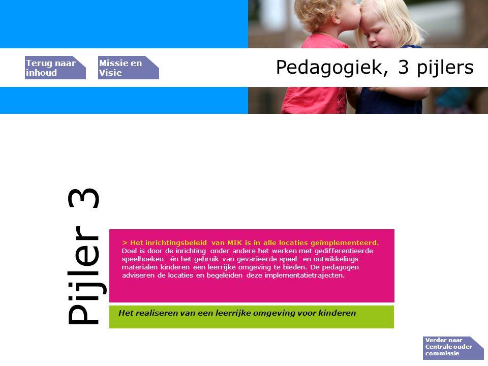 Pijler 3 Pedagogiek, 3 pijlers Bedrijfs resultaat Peiler 1
