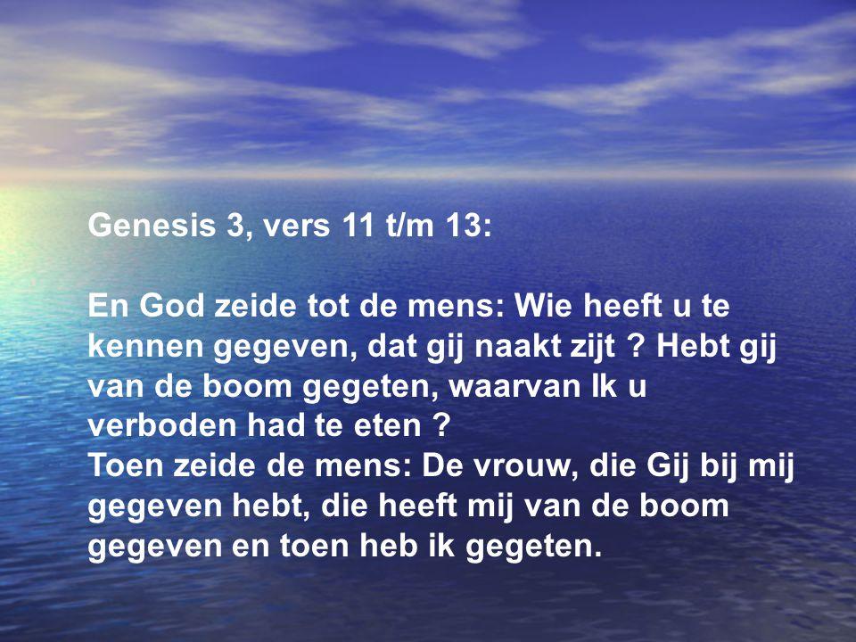 Genesis 3, vers 11 t/m 13: