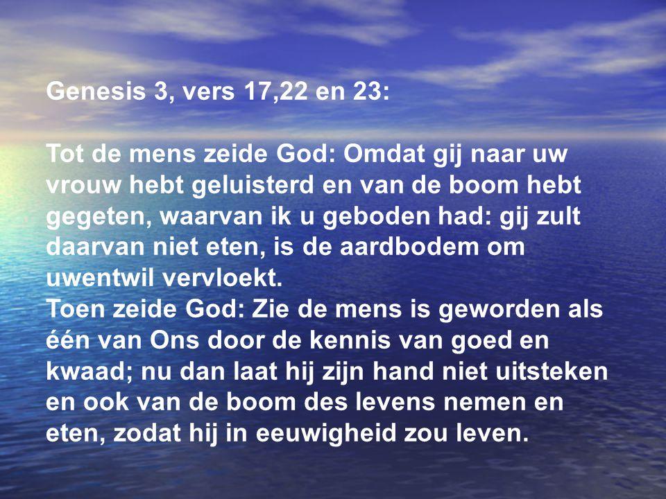 Genesis 3, vers 17,22 en 23: