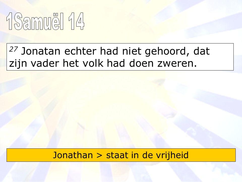 Jonathan > staat in de vrijheid
