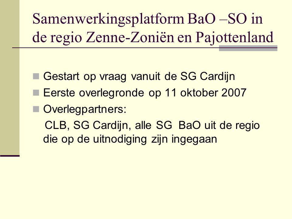 Samenwerkingsplatform BaO –SO in de regio Zenne-Zoniën en Pajottenland