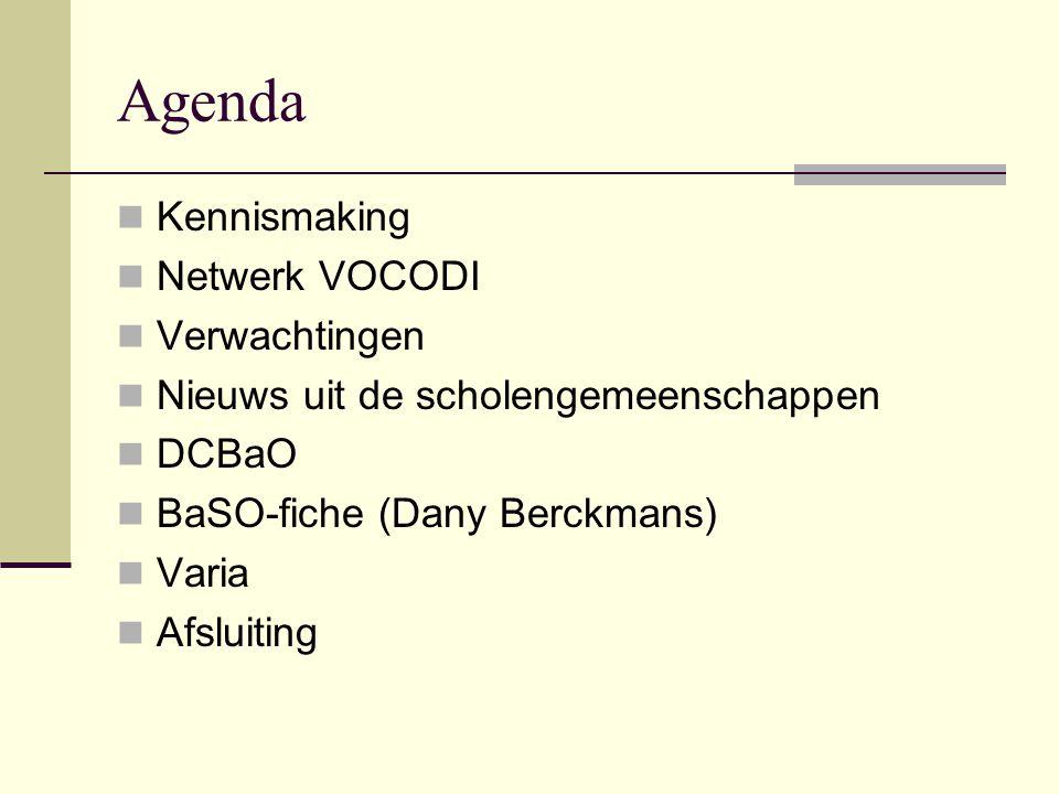 Agenda Kennismaking Netwerk VOCODI Verwachtingen