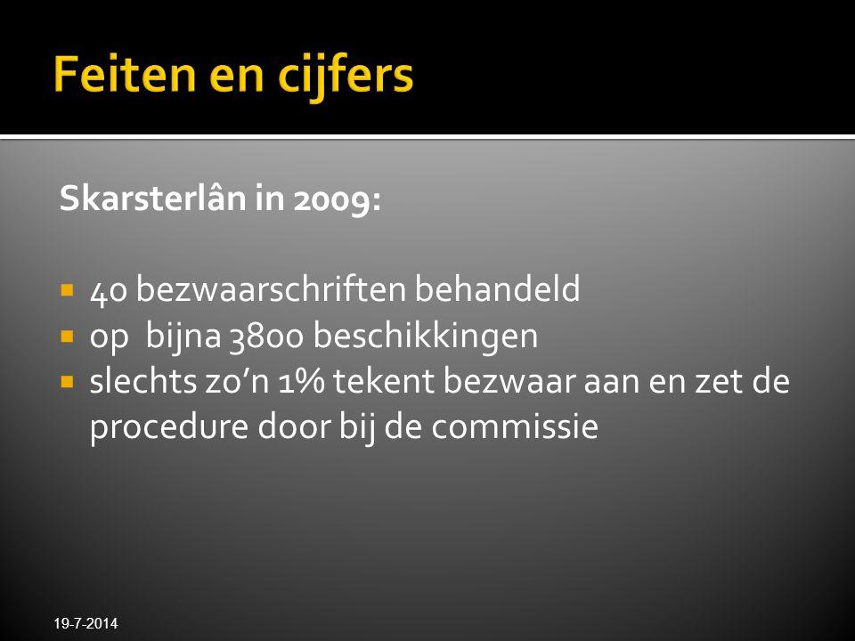 Feiten en cijfers Skarsterlân in 2009: 40 bezwaarschriften behandeld