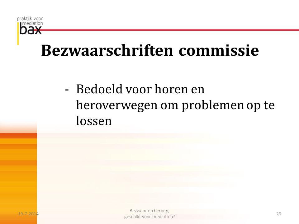 Bezwaarschriften commissie