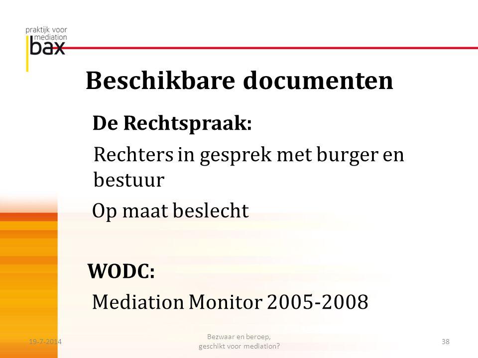 Beschikbare documenten