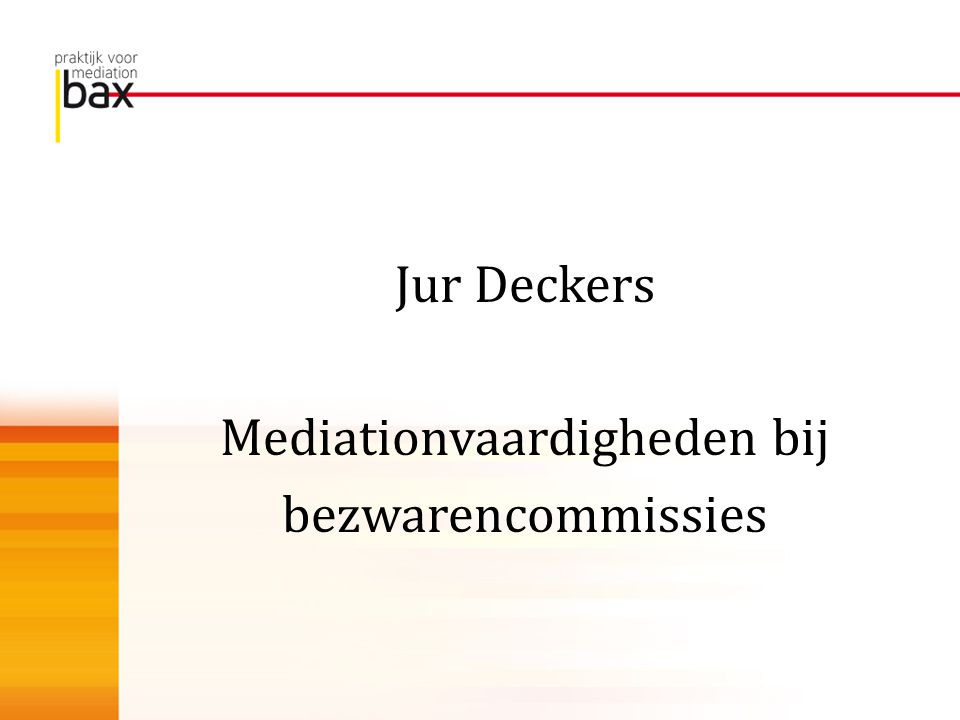 Mediationvaardigheden bij